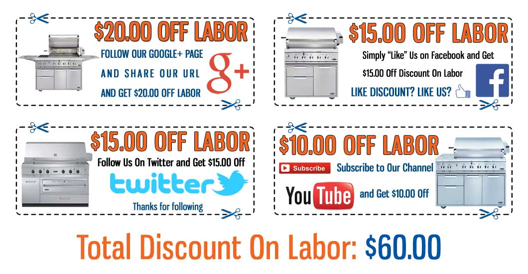 Multi Discount DCS Grill Appliance Repair Coupons - Click to Print