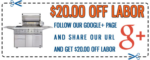 DCS Grill Repair Google+ Discount Coupon - Click to Print