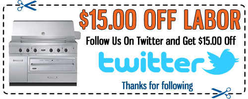DCS Grill Repair Twitter Discount Coupon - Click to Print
