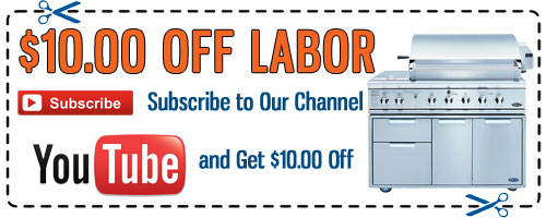 DCS Grill Repair YouTube Discount Coupon - Click to Print