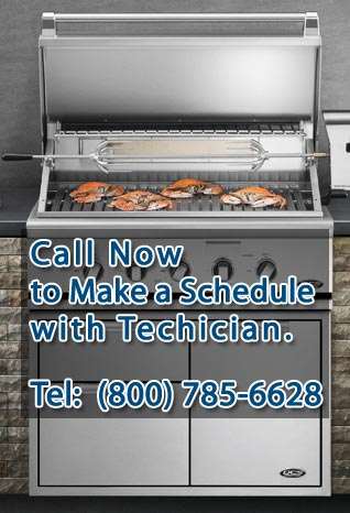 Call (800) 785-6628 to make a schedule for DCS BBQ Repair.